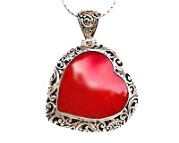 Red Coral heart